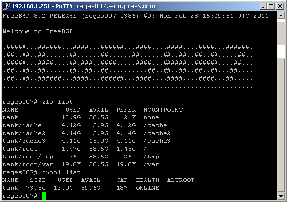 ZFS on FreeBSD
