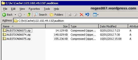 Folder cache